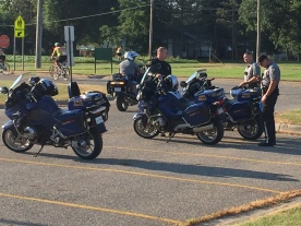 Throughout the 300-mile trek, riders were escorted by Michigan State Troopers to keep them safe.